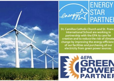 The Green energy transition at St. Camillus Parish, Silver Spring, Maryland.
